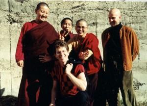 Nun group outside studio